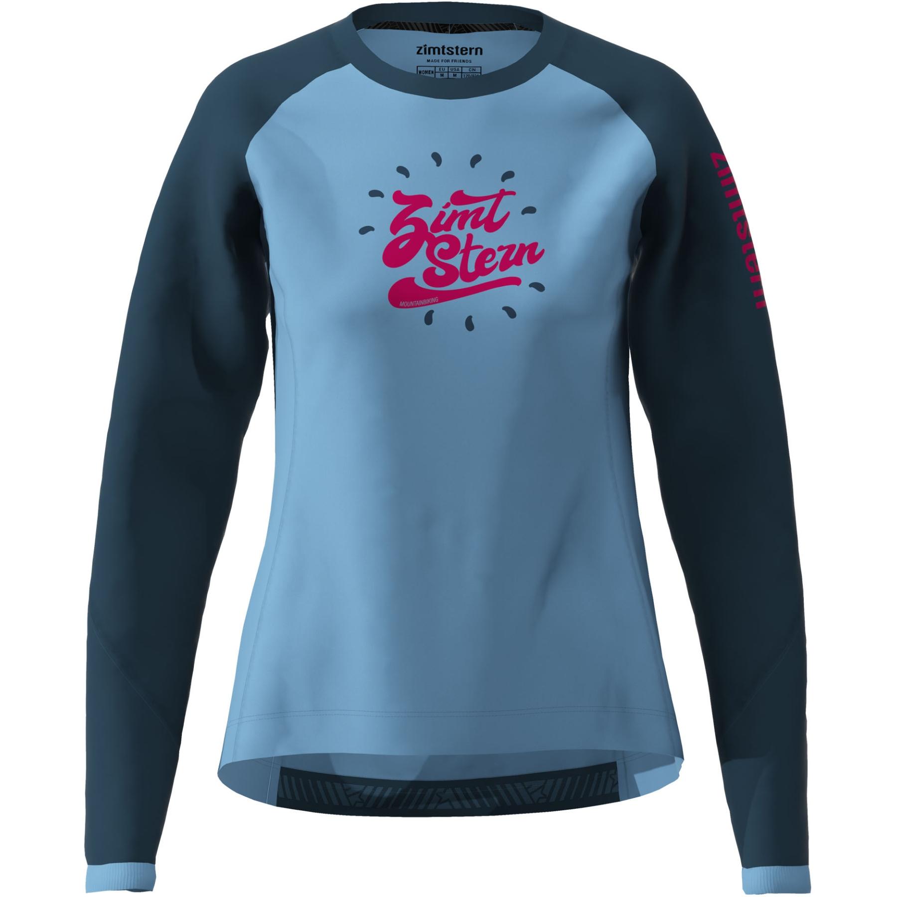 Zimtstern PureFlowz Langarm-Shirt Damen - heritage blue/french navy