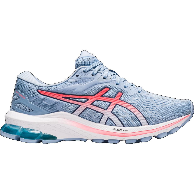asics GT-1000 10 Running Shoes Women - soft sky/blazing coral