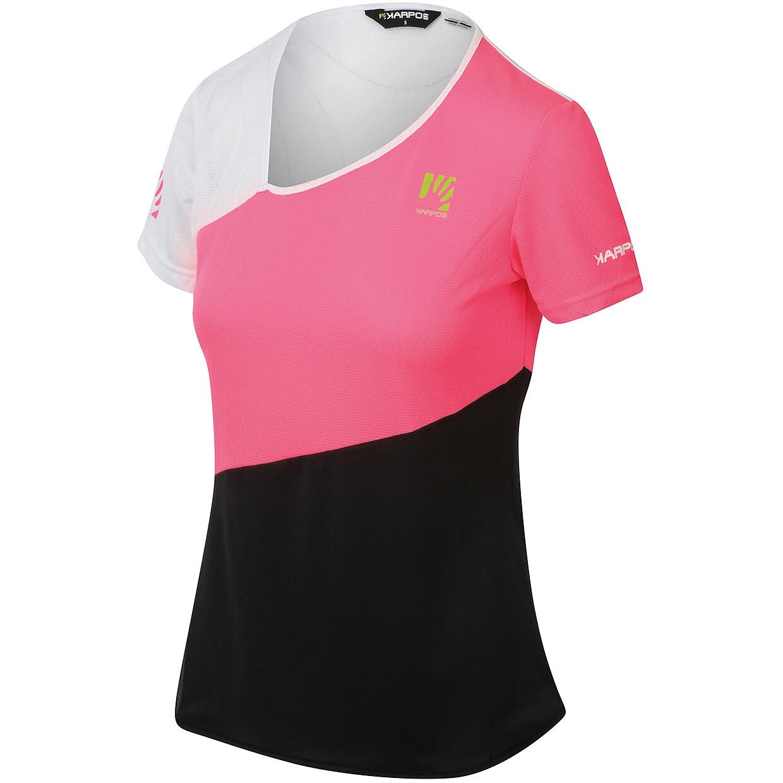 Karpos Cima Undici Damen T-Shirt - pink fluo/black/white