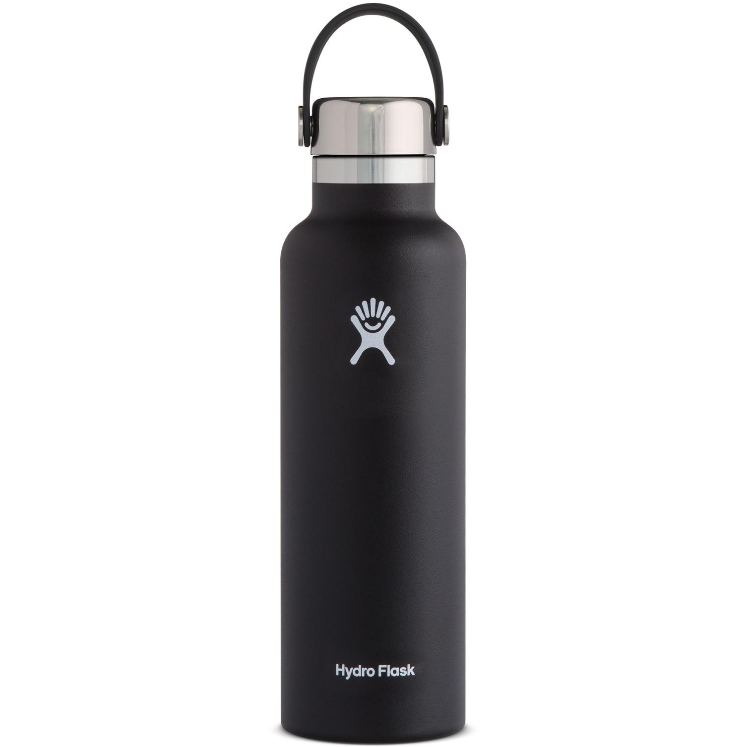 Produktbild von Hydro Flask 21oz Standard Mouth Cap Stainless Steel Thermoflasche - 621ml - schwarz