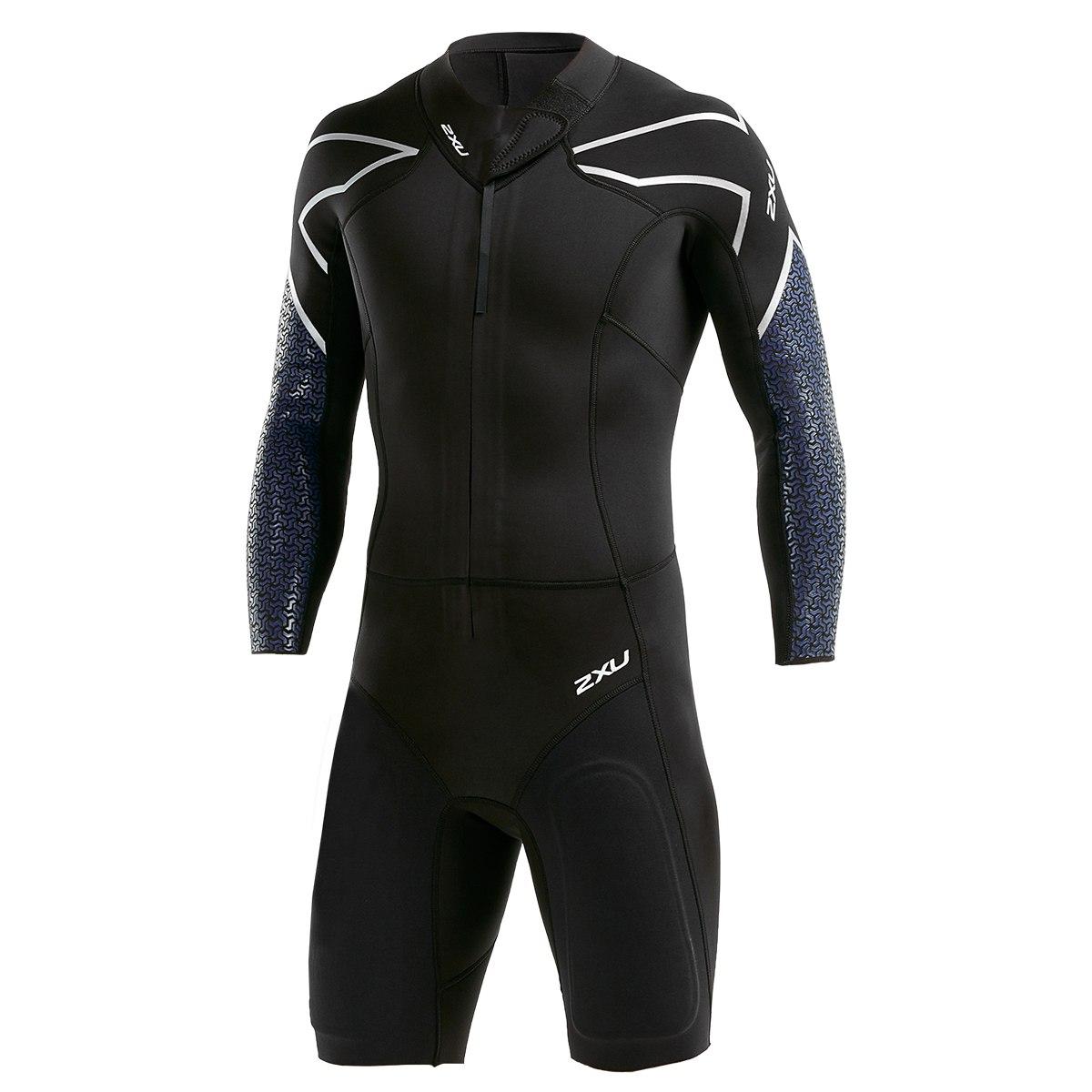 2XU SR:1 Swimrun SR1 Wetsuit - black/blue surf print