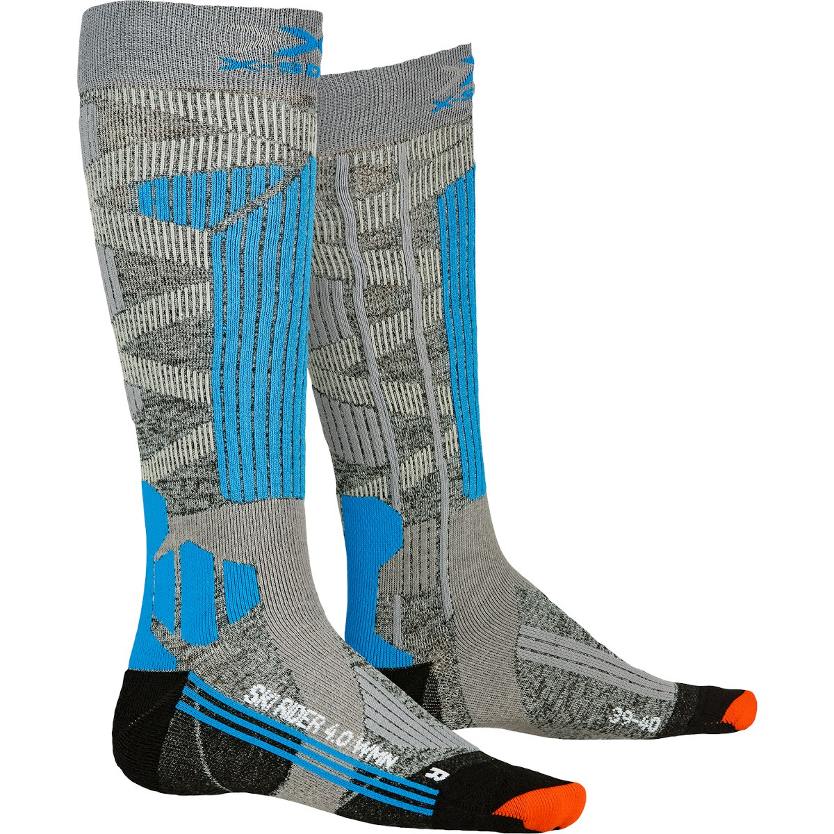 Bild von X-Socks Ski Rider 4.0 Socken für Damen - stone grey melange/turquoise