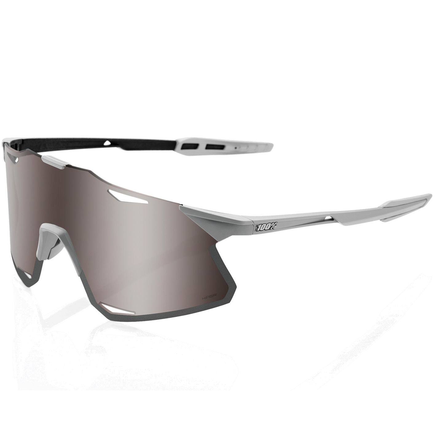 Imagen de 100% Hypercraft - HiPER Lens Gafas - Matte Stone Grey/Silver / Silver + Clear