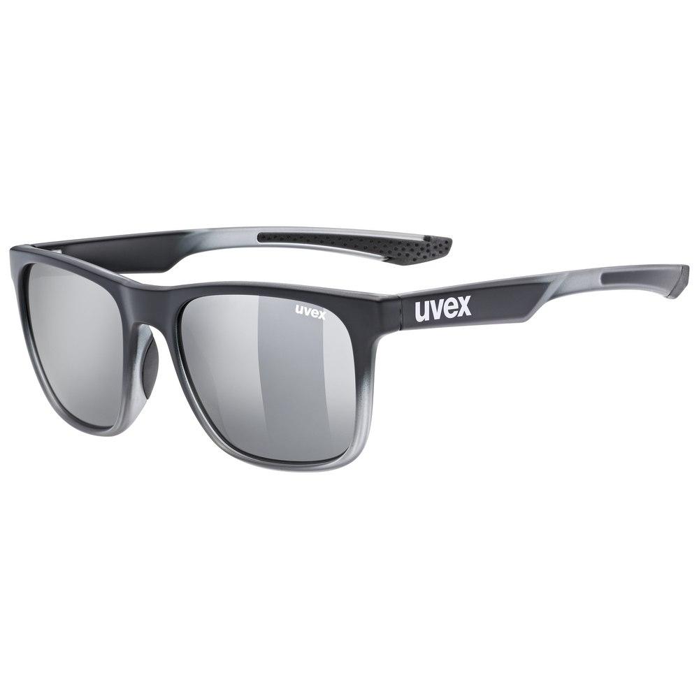 Uvex lgl 42 - black transparent/mirror silver Glasses