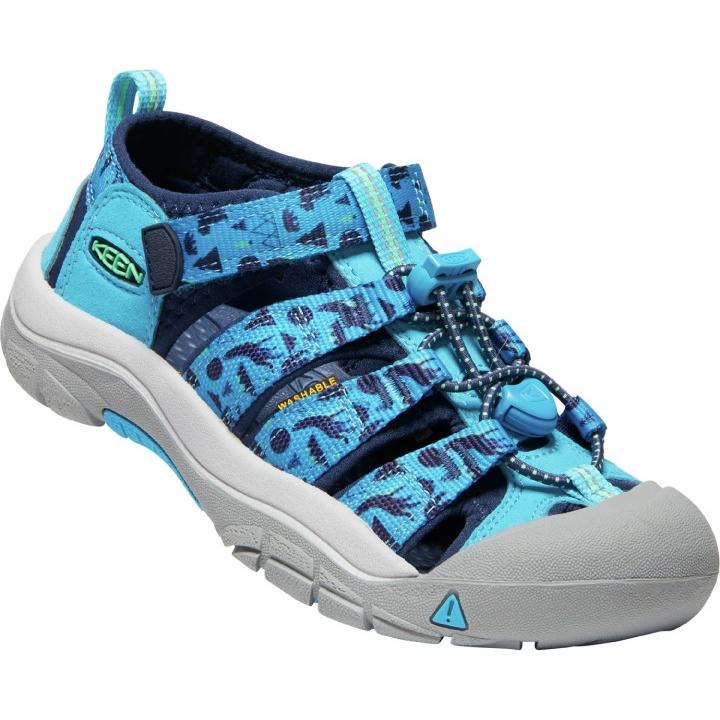 KEEN Newport H2 Youth Sandals - vivid blue/katydid