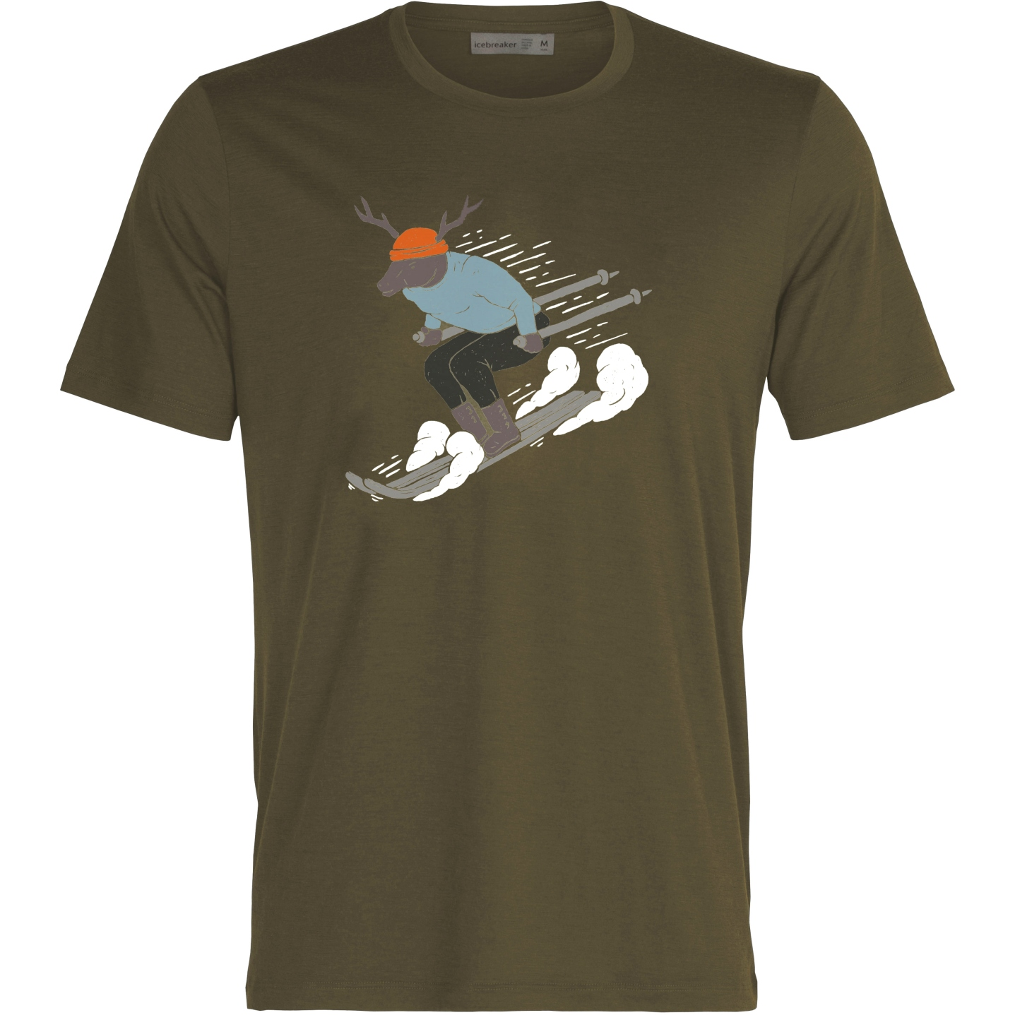 Icebreaker Tech Lite II Ski Rider Herren T-Shirt - Loden