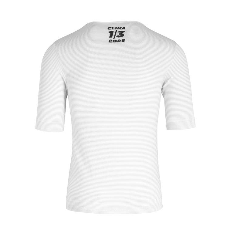 Image of Assos BODY INSULATOR ASSOSOIRES Summer Short Sleeve Skin Layer Undershirt - holyWhite