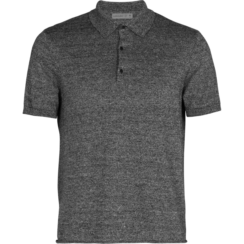 Produktbild von Icebreaker Flaxen Herren Polo-Pullover - Black