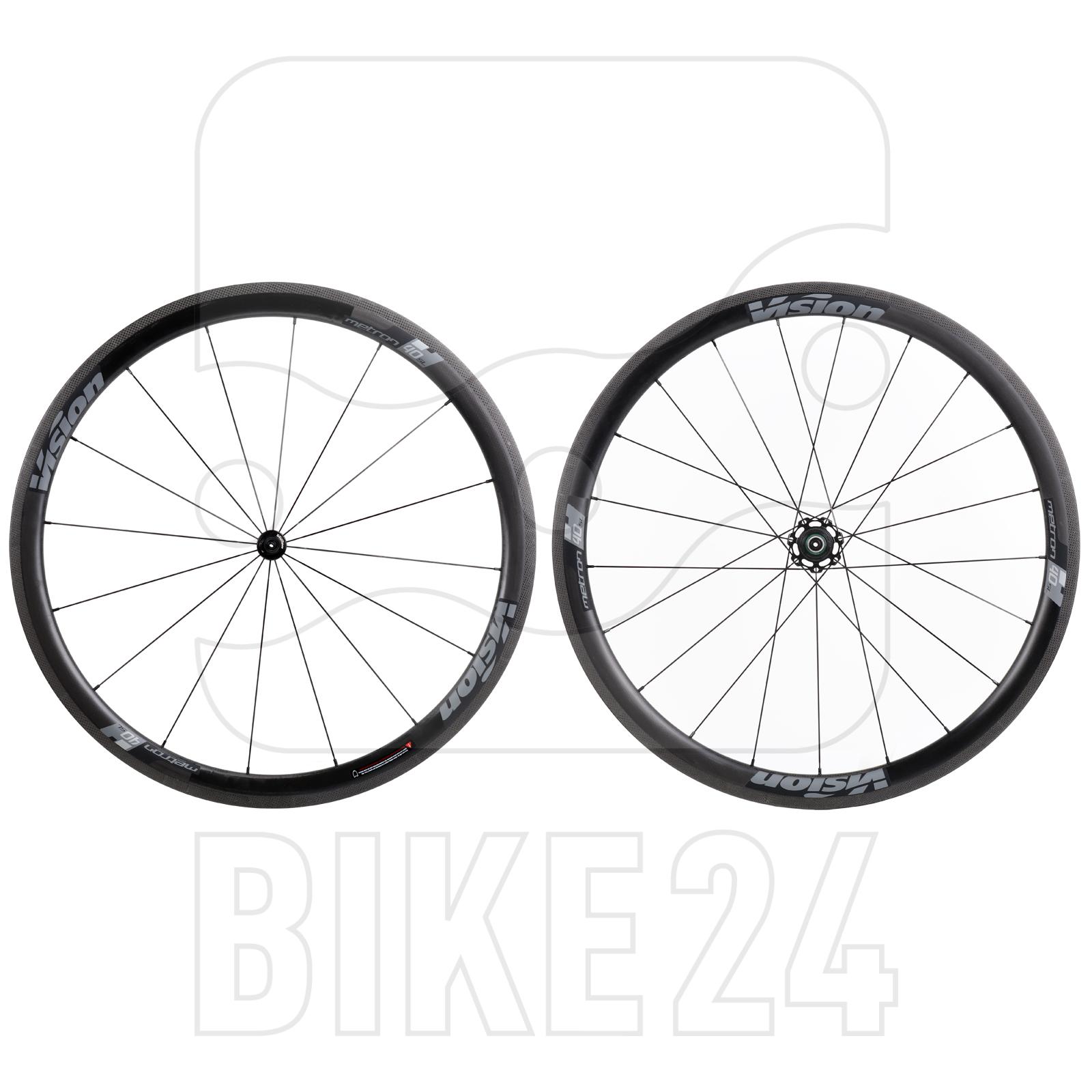 Vision Metron 40 SL Carbon Laufradsatz - Schlauchreifen - Shimano HG