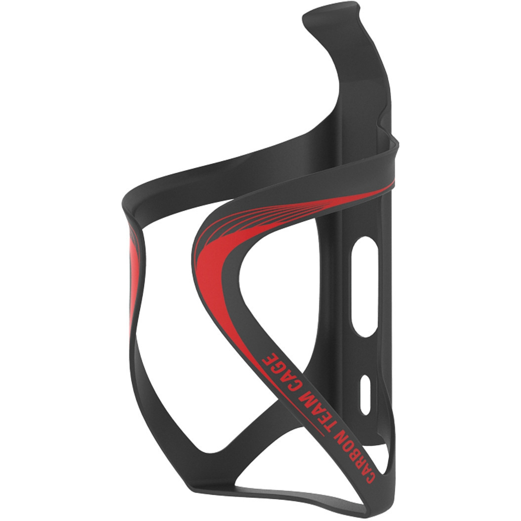 Lezyne Carbon Team Cage - Bottle Cage - black-red