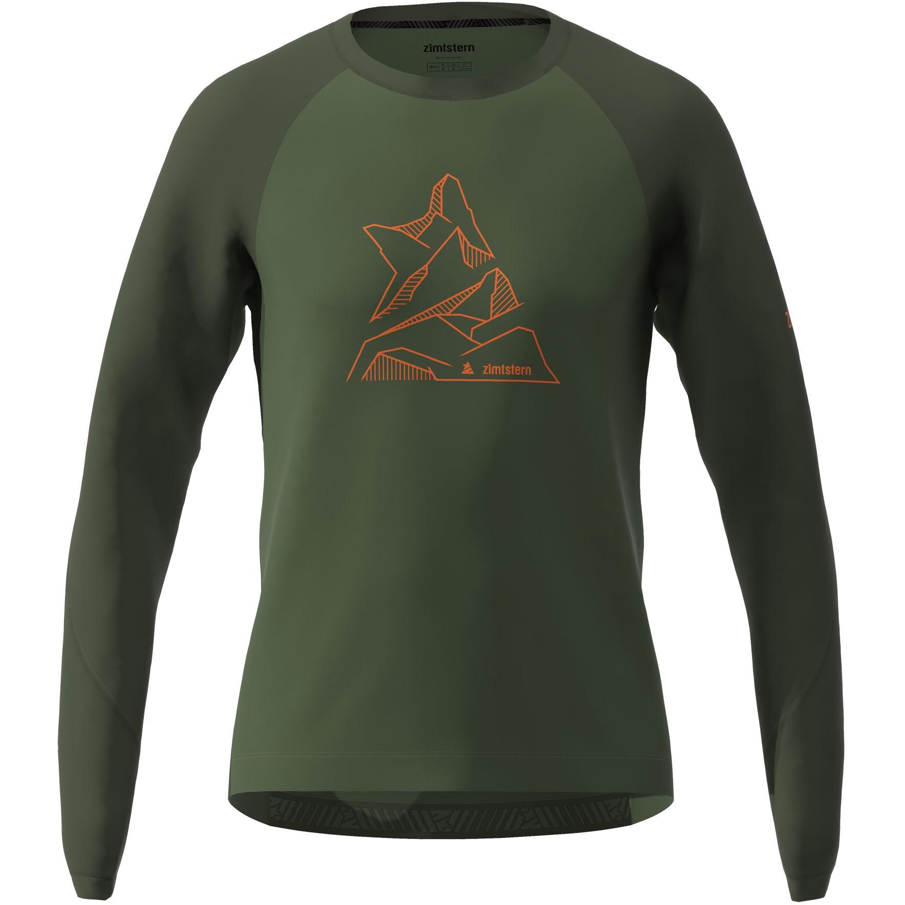 Zimtstern PureFlowz Langarm-Shirt - bronze green/forest night