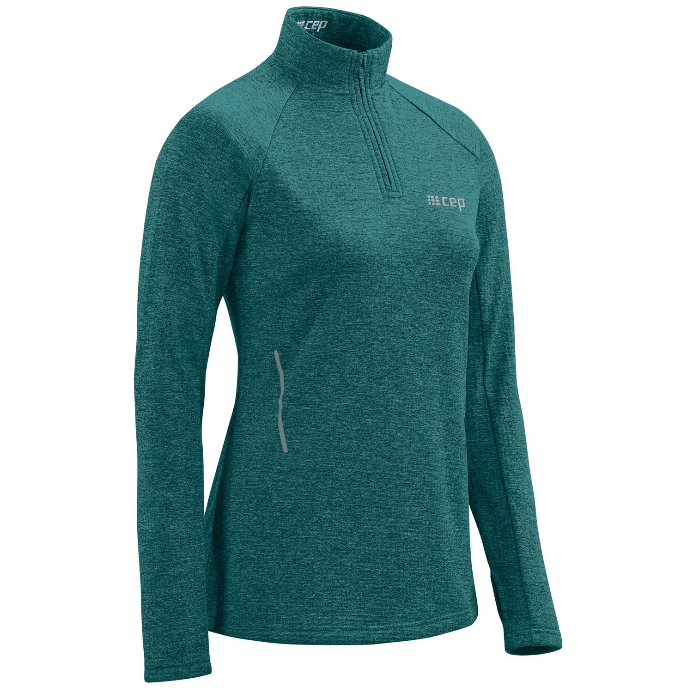 CEP Winter Run Longsleeve Shirt Women - green melange
