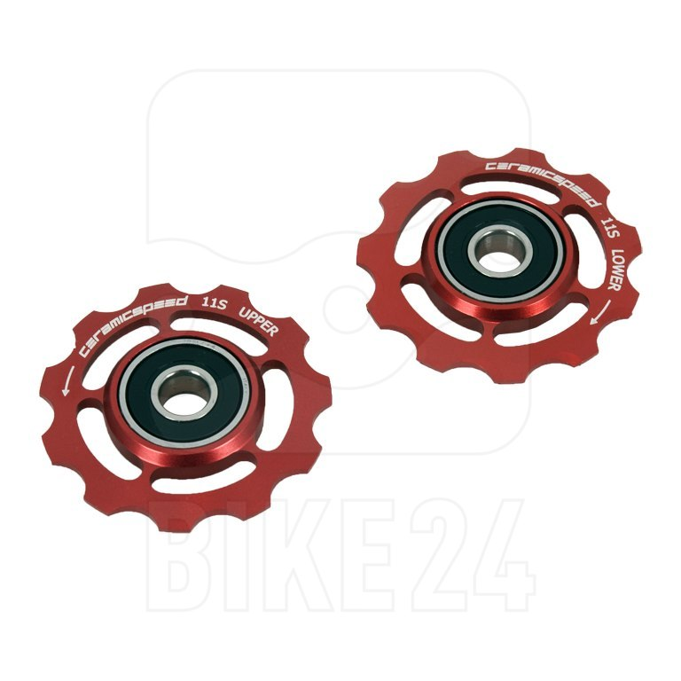 CeramicSpeed Pulley Wheels for Shimano 11-Speed - red