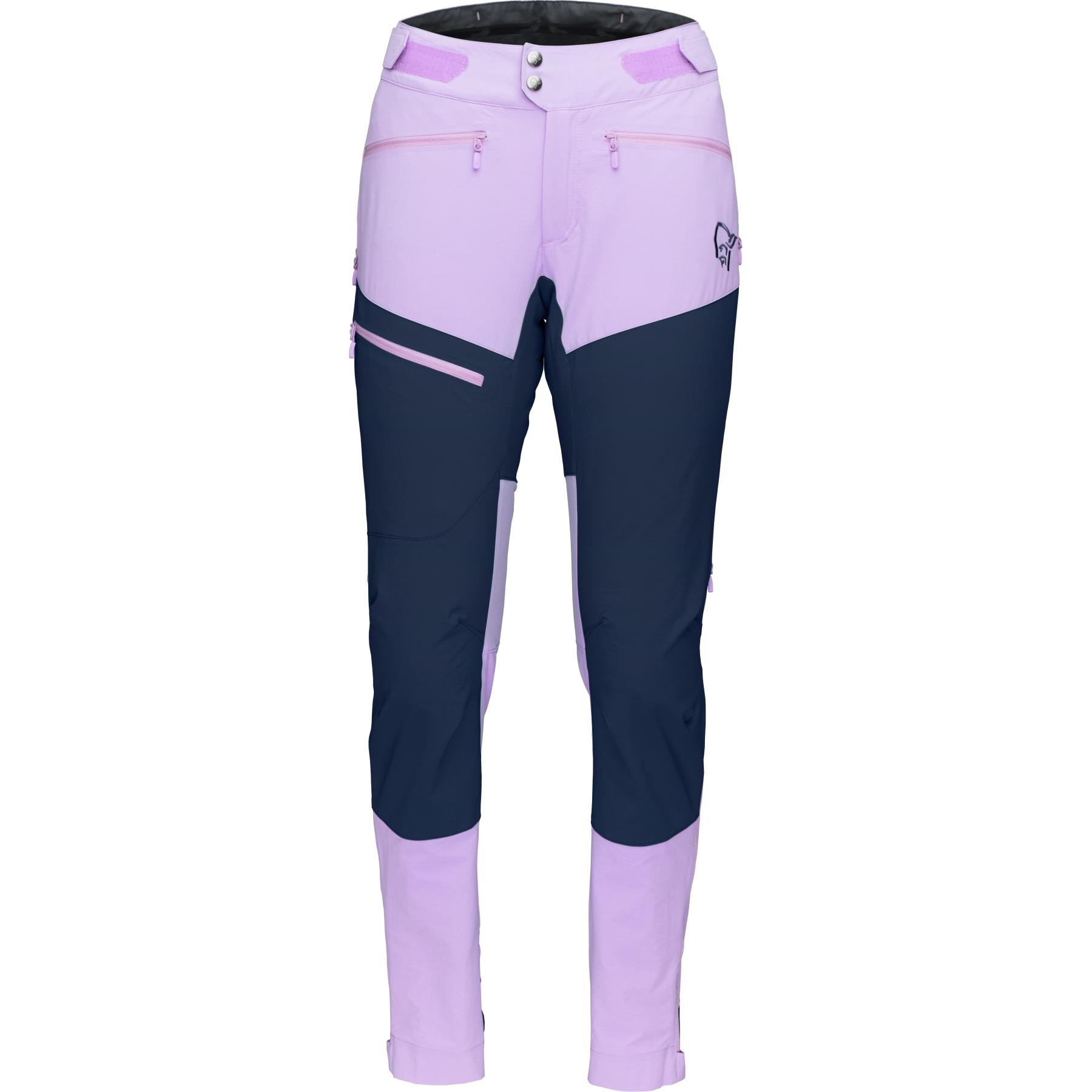 Norrona fjora flex1 Pantalones para mujeres - Violet Tulle/Indigo Night