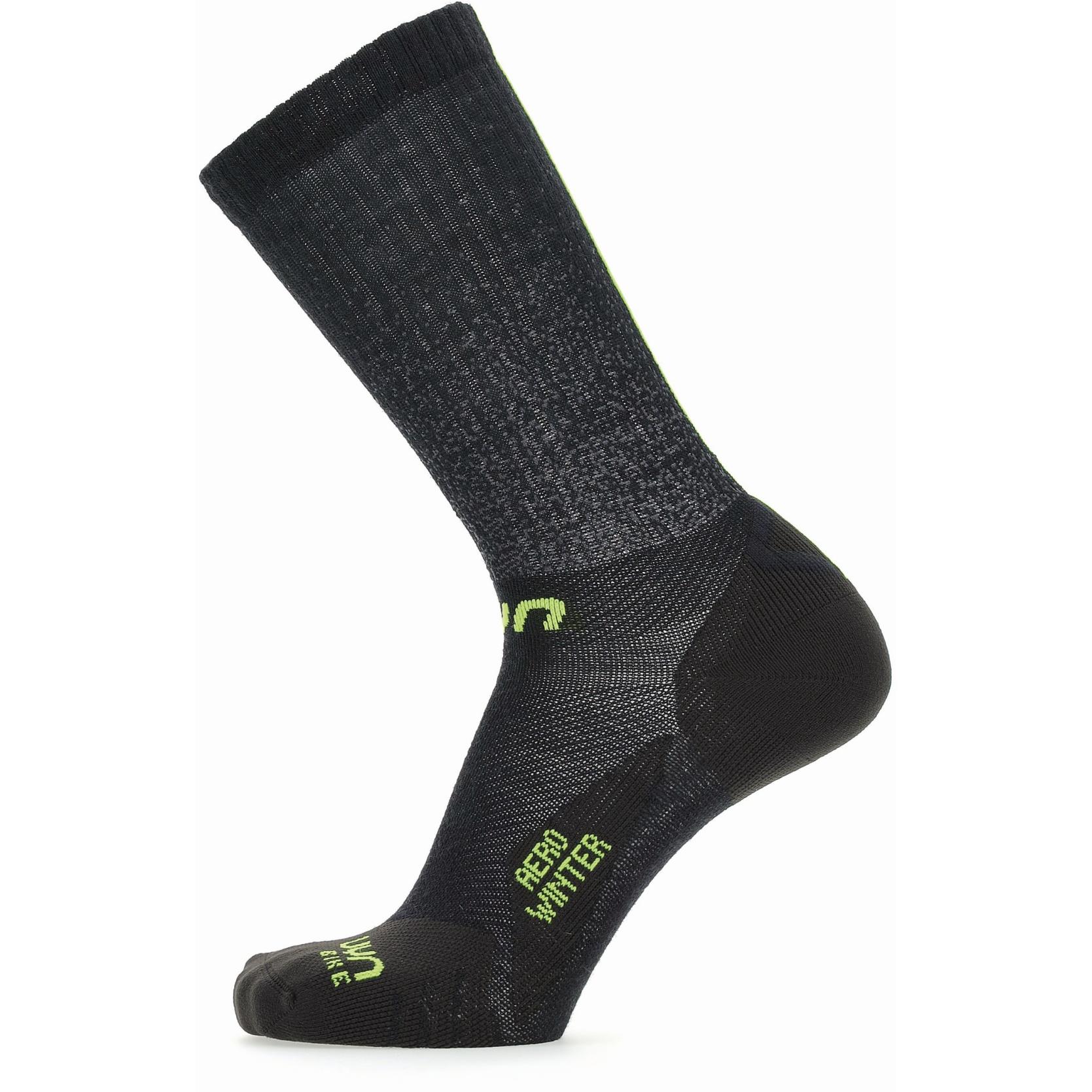 UYN Cycling Aero Winter Socken - Black/Lime