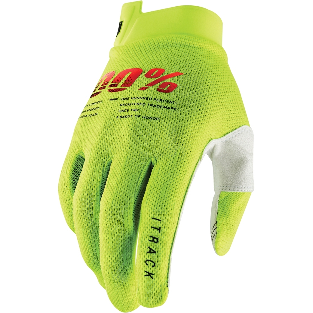 100% iTrack Guantes - fluo yellow