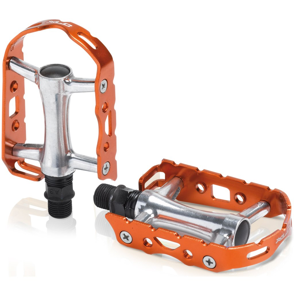 XLC PD-M15 MTB/ATB Ultralight Colour Edition Pedal - silber/orange