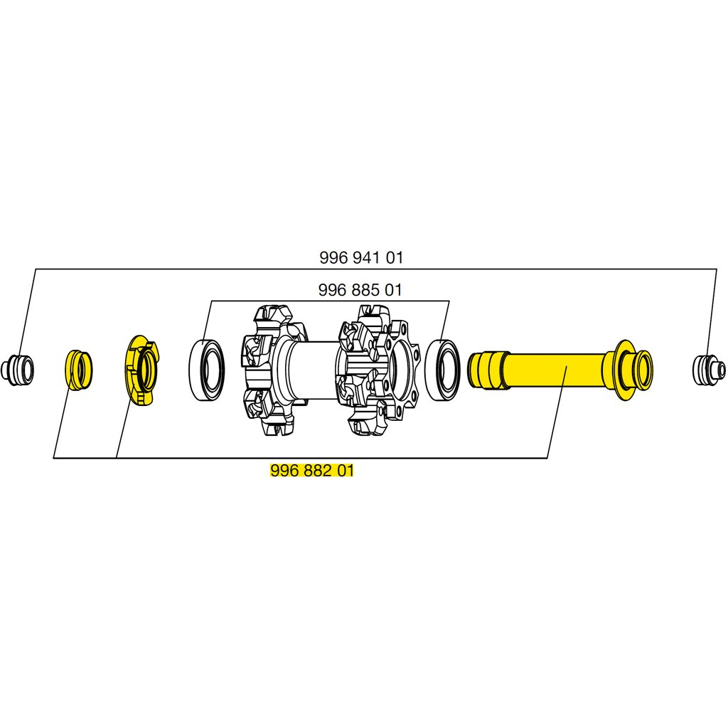 Image of Mavic Front Wheel Axle 15mm Disc IS for Crossmax SLR Disc 2009/Crossmax SL 2015 - 99688201