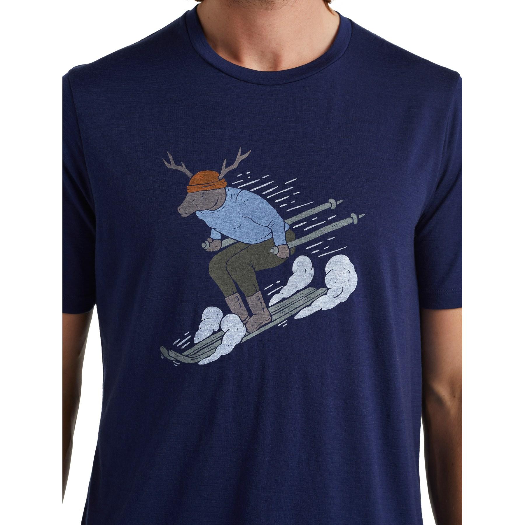 Bild von Icebreaker Tech Lite II Ski Rider Herren T-Shirt - Royal Navy