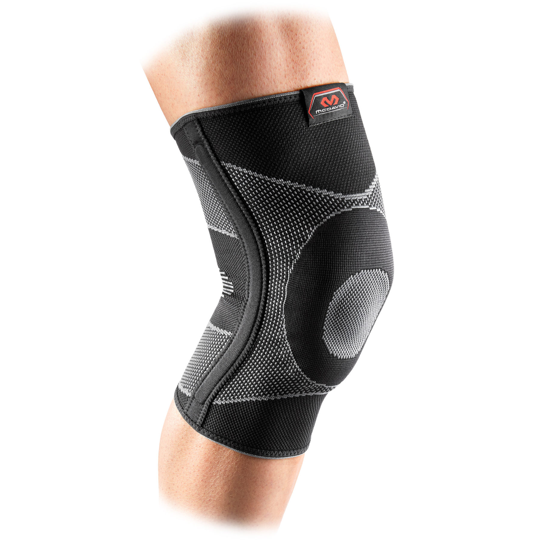 Picture of McDavid Knee Support Sleeve Elastic With Gel Buttress And Stays - Black