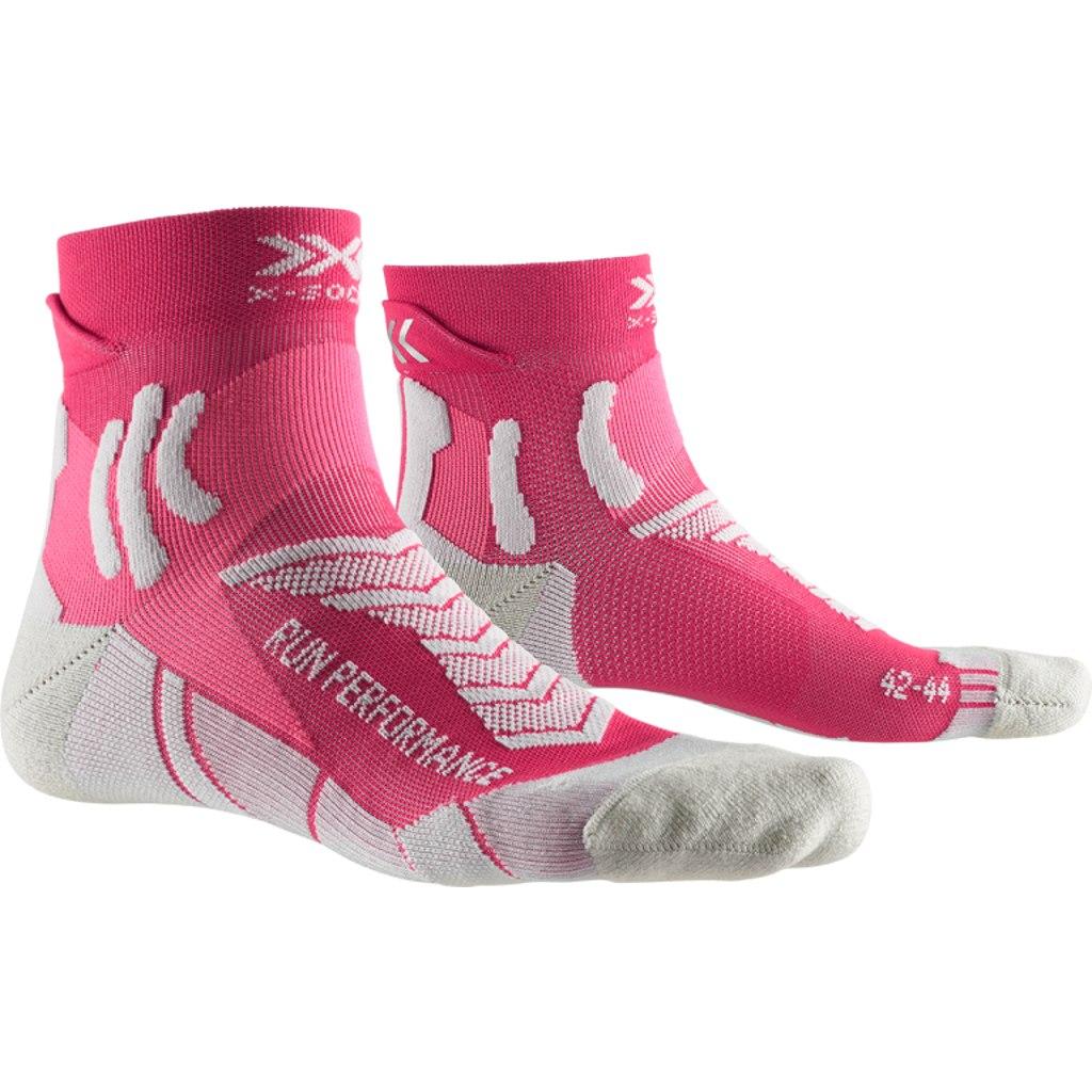 X-Socks Run Performance Laufsocken für Damen - flamingo pink/pearl grey