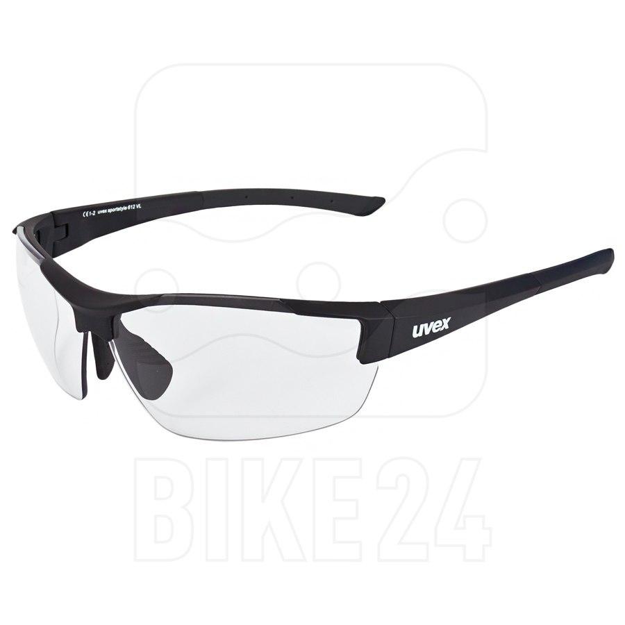 Uvex sportstyle 612 VL - black mat/variomatic smoke Brille
