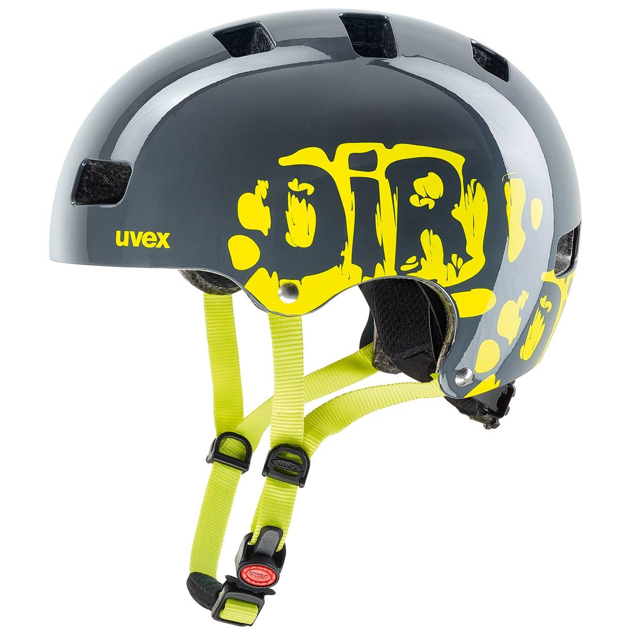Uvex kid 3 Kids Helmet - dirtbike grey-lime