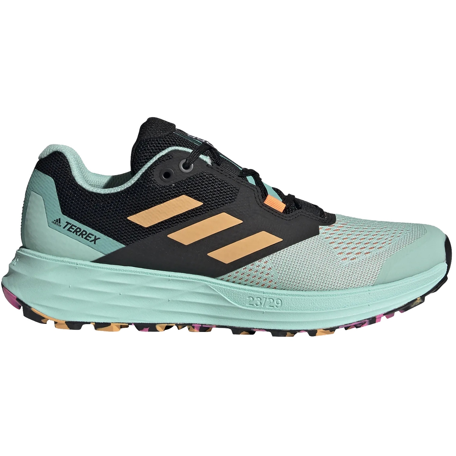 adidas TERREX Two Flow Trail Running Zapatillas para Mujer - clear mint/hazy orange/screaming pink FW2712