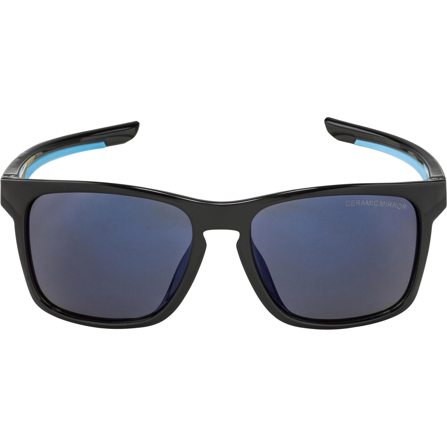 Image of Alpina Flexxy Cool Kids I Glasses - black-cyan / blue mirror