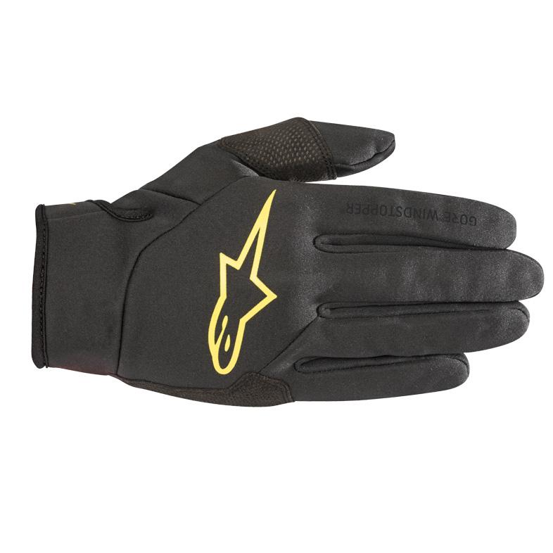 Image of Alpinestars Cascade Gore-Tex Infinium Windstopper Glove - black/acid yellow
