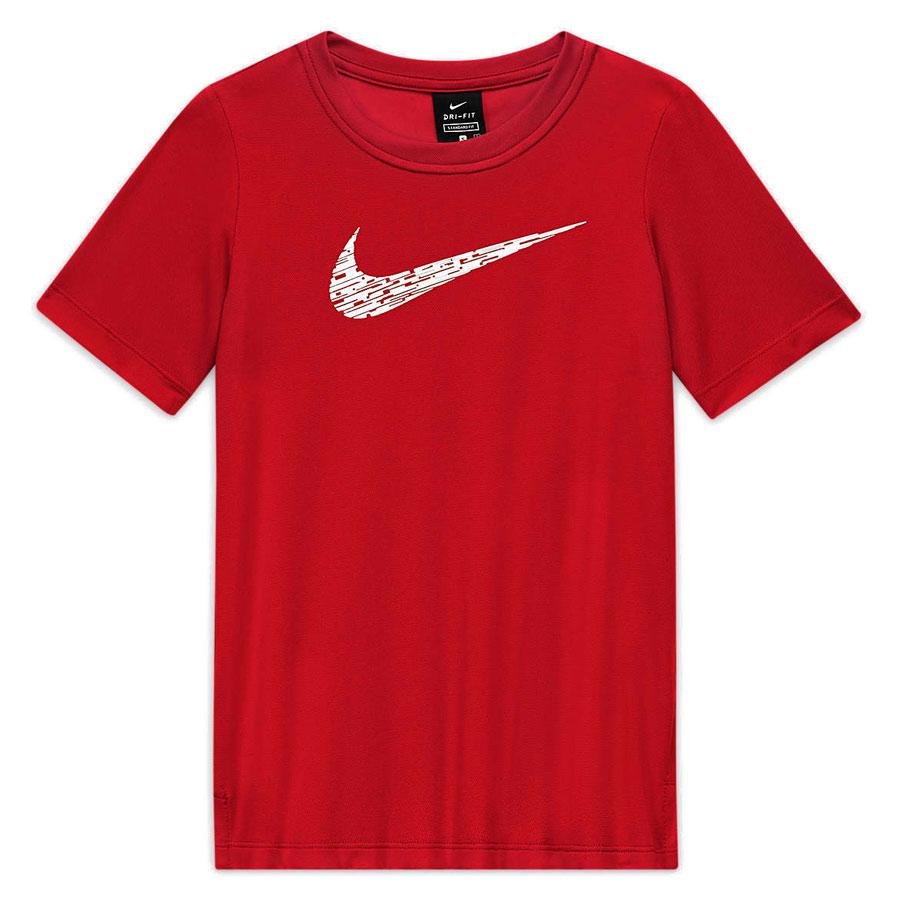 Image of Nike Boys' Short-Sleeve Training Top - university red/white CU9119-657