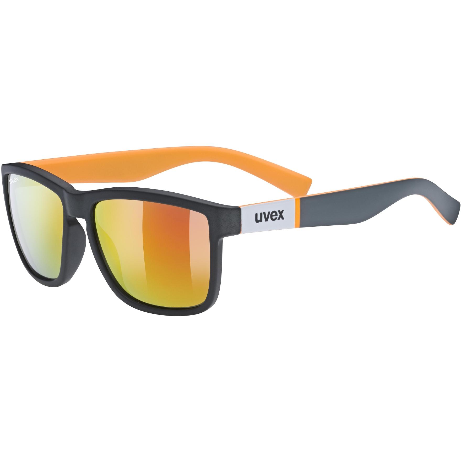 Uvex lgl 39 Glasses - grey mat orange/mirror red