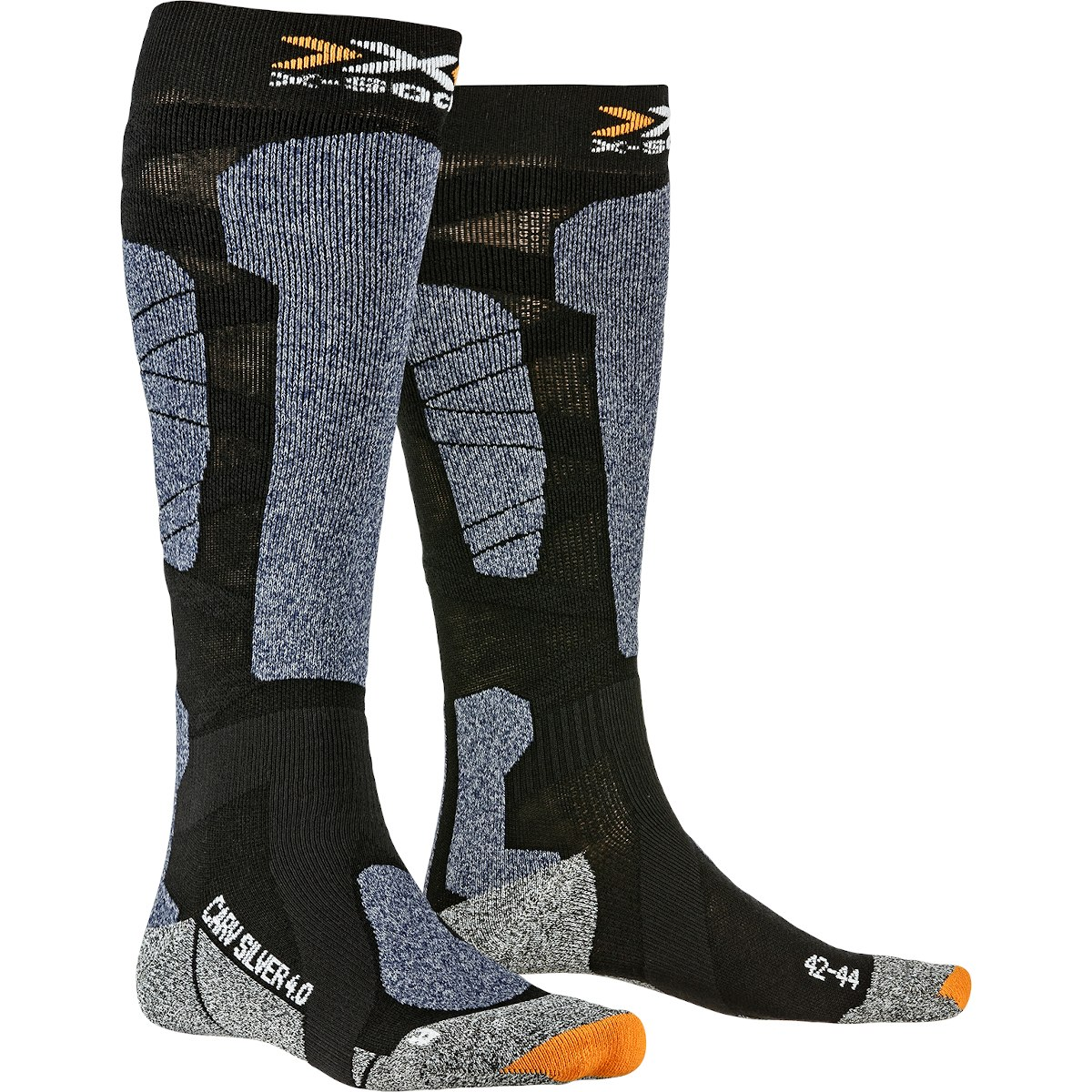 X-Socks Carve Silver 4.0 Socken - black/blue melange