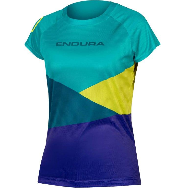 Endura Women's SingleTrack Core Print T-Shirt - kingfisher