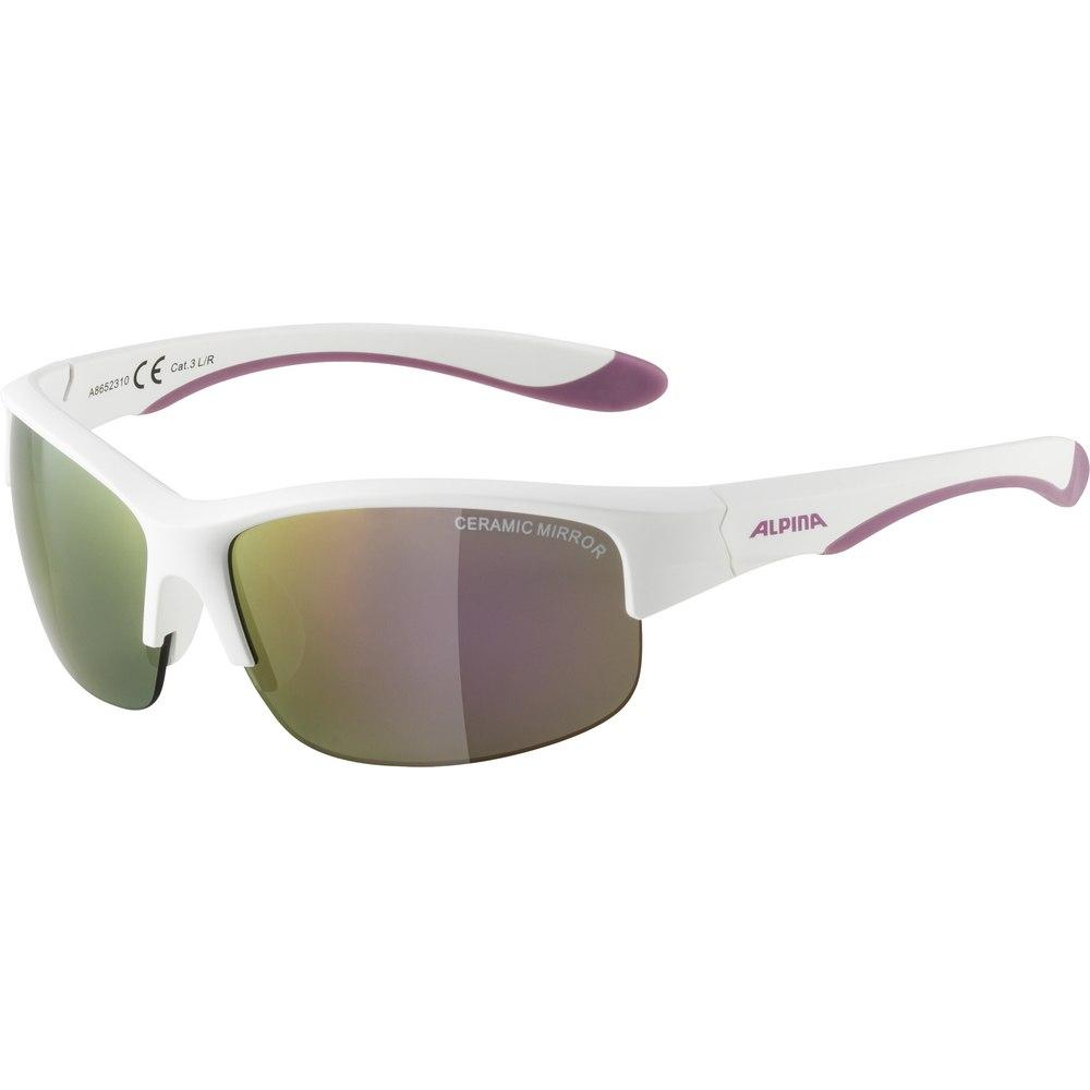 Alpina Flexxy Youth HR Kids Glasses - white matt-purple / pink mirror