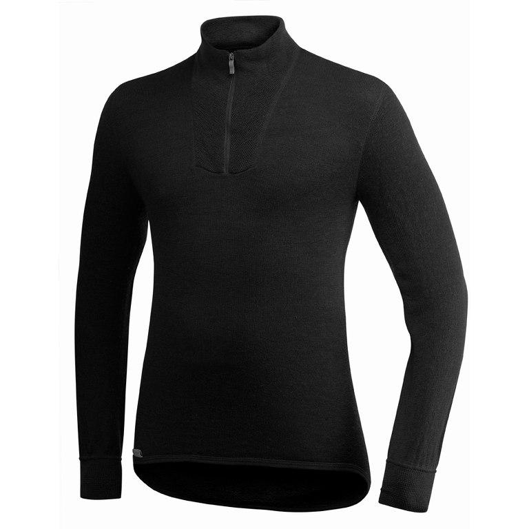 Woolpower Zip Turtleneck 400 Langarm-Shirt - schwarz