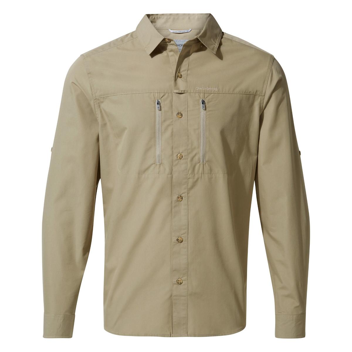 Craghoppers Kiwi Boulder Long Sleeved Shirt - Rubble