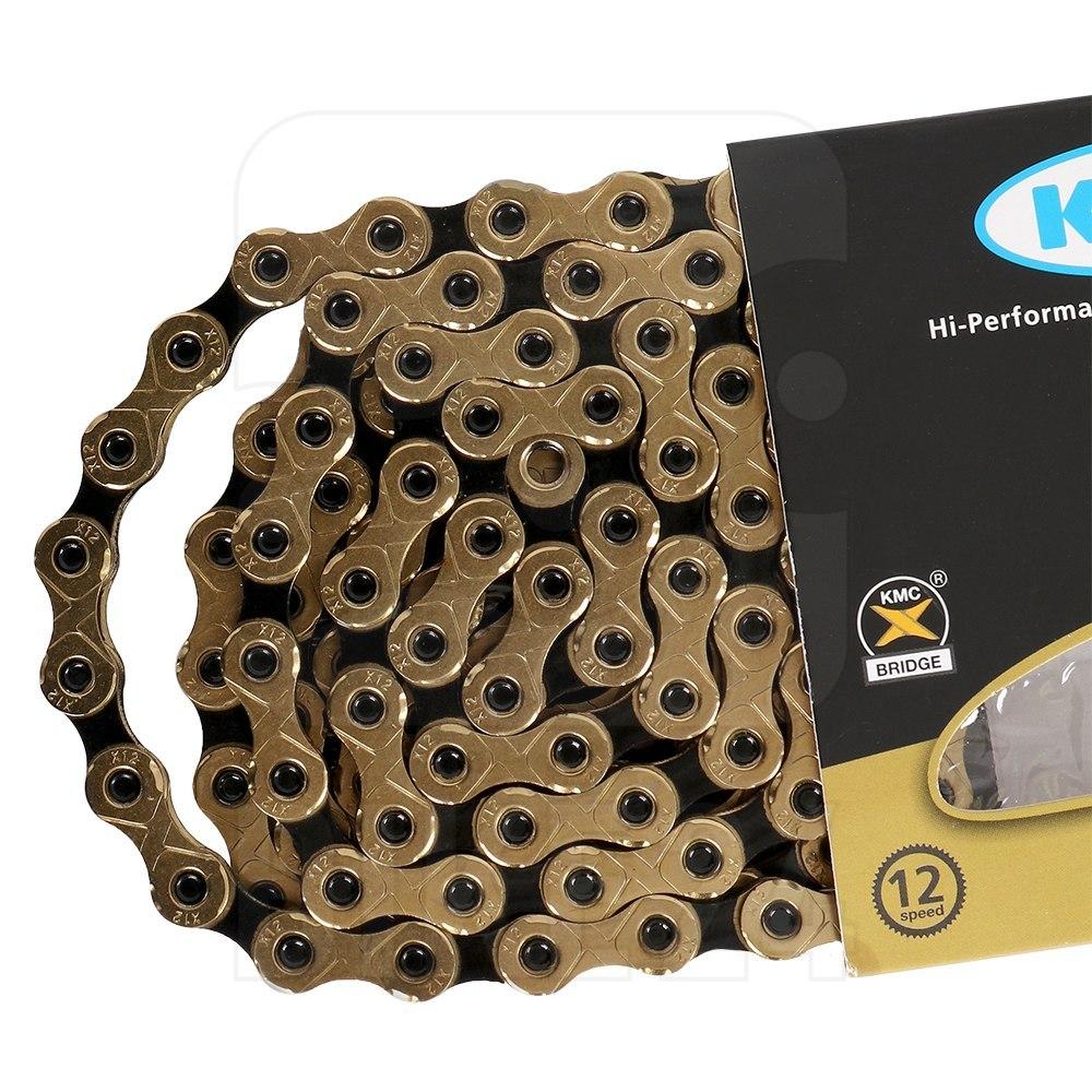 KMC X12 Ti-N Kette - 12-fach - gold/schwarz