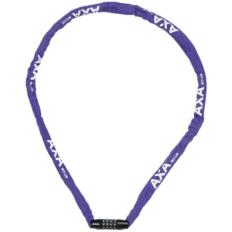 AXA Rigid RCC 120/3.5 Code Chain Lock - purple