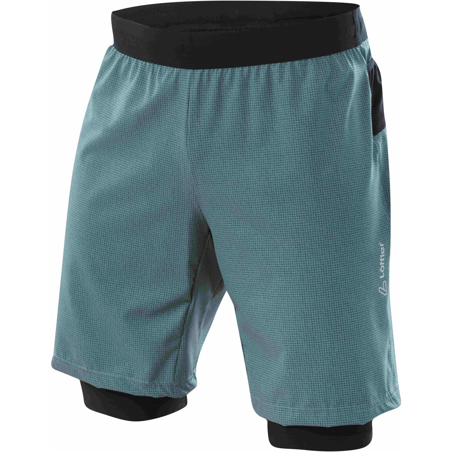 Picture of Löffler 2in1 Shorts CSSL 23592 - granite 940