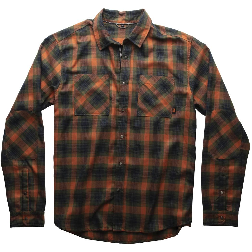 Produktbild von FOX Heavyday Flannel Langarmhemd - orange