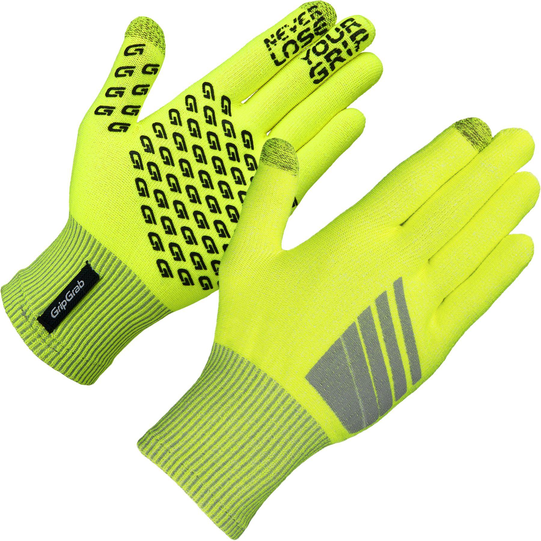GripGrab Primavera Hi-Vis Midseason Glove - Yellow Hi-Vis