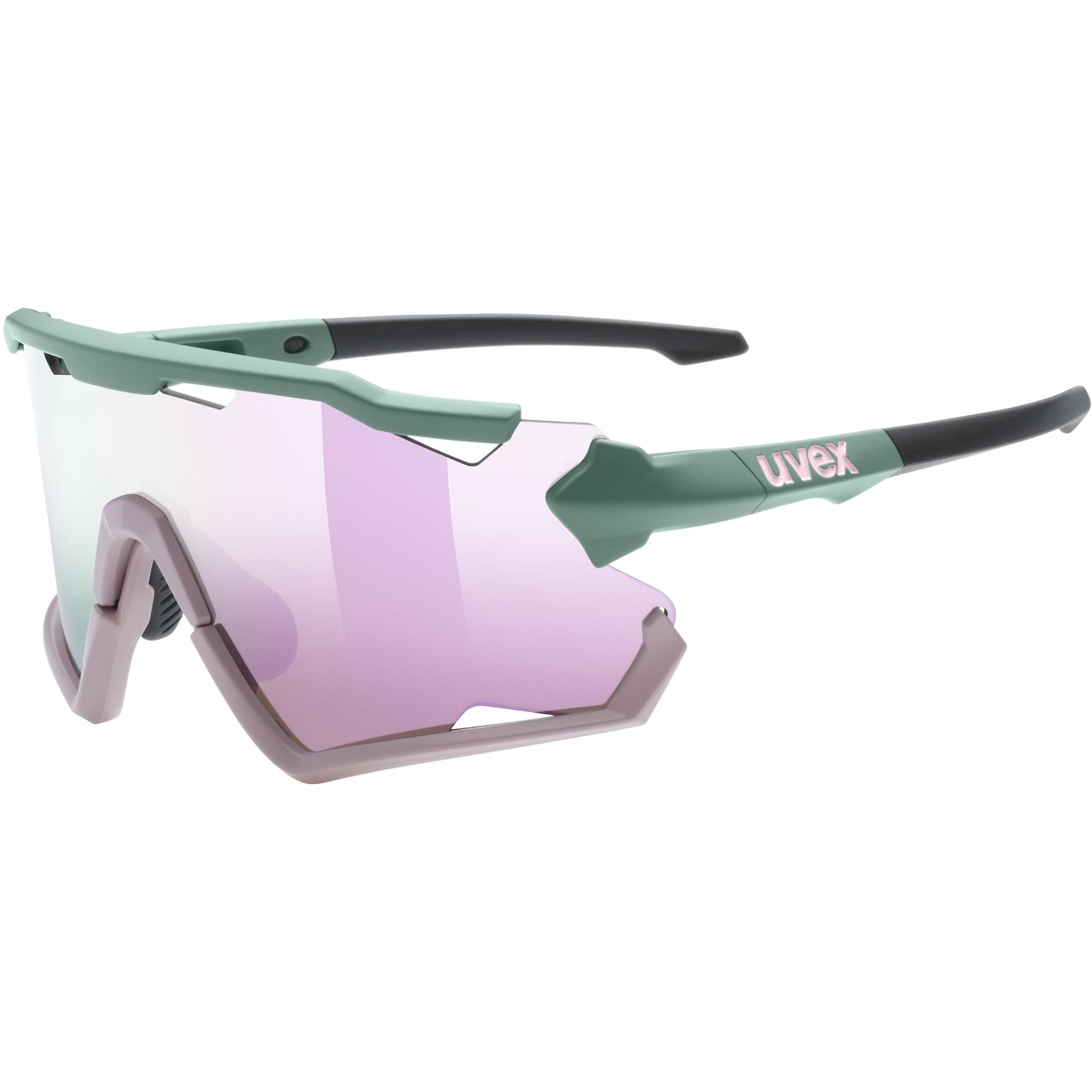 Uvex sportstyle 228 Glasses - moss rose mat/mirror rose