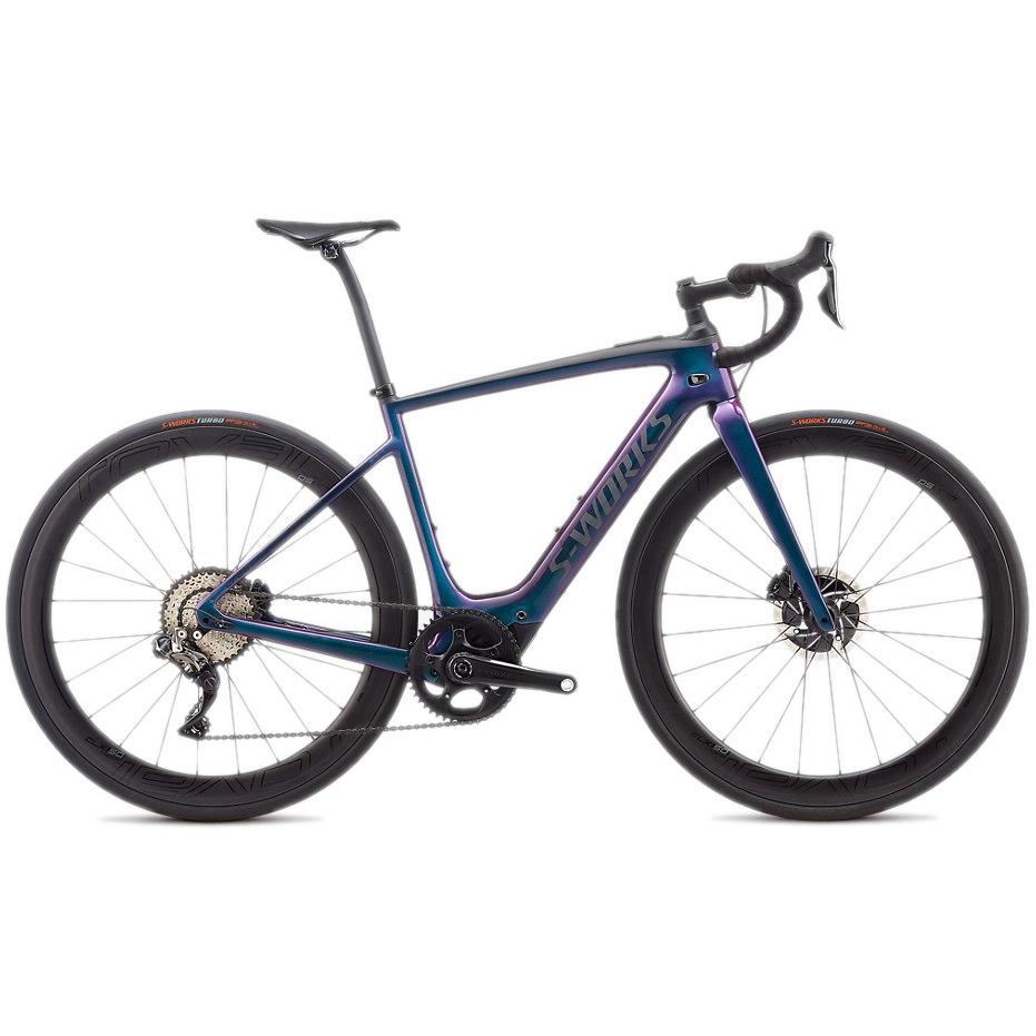 Produktbild von Specialized S-WORKS TURBO CREO SL Rennrad E-Bike - 2020 - gloss supernova chameleon / raw carbon