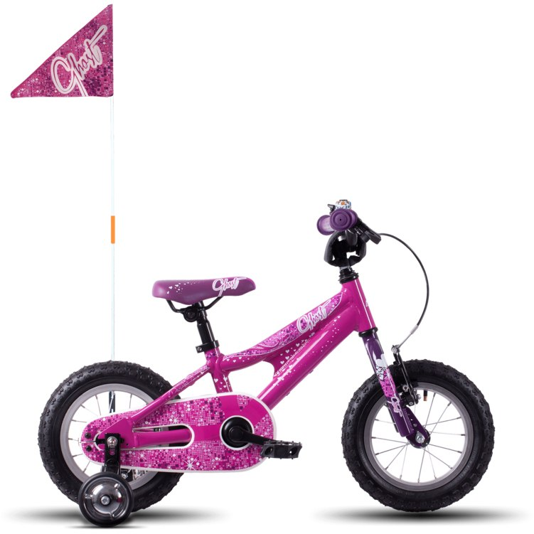"""Ghost POWERKID AL 12 K - 12"""" Kids Bike - 2021 - dark fuchsia pink / violet / star white"""