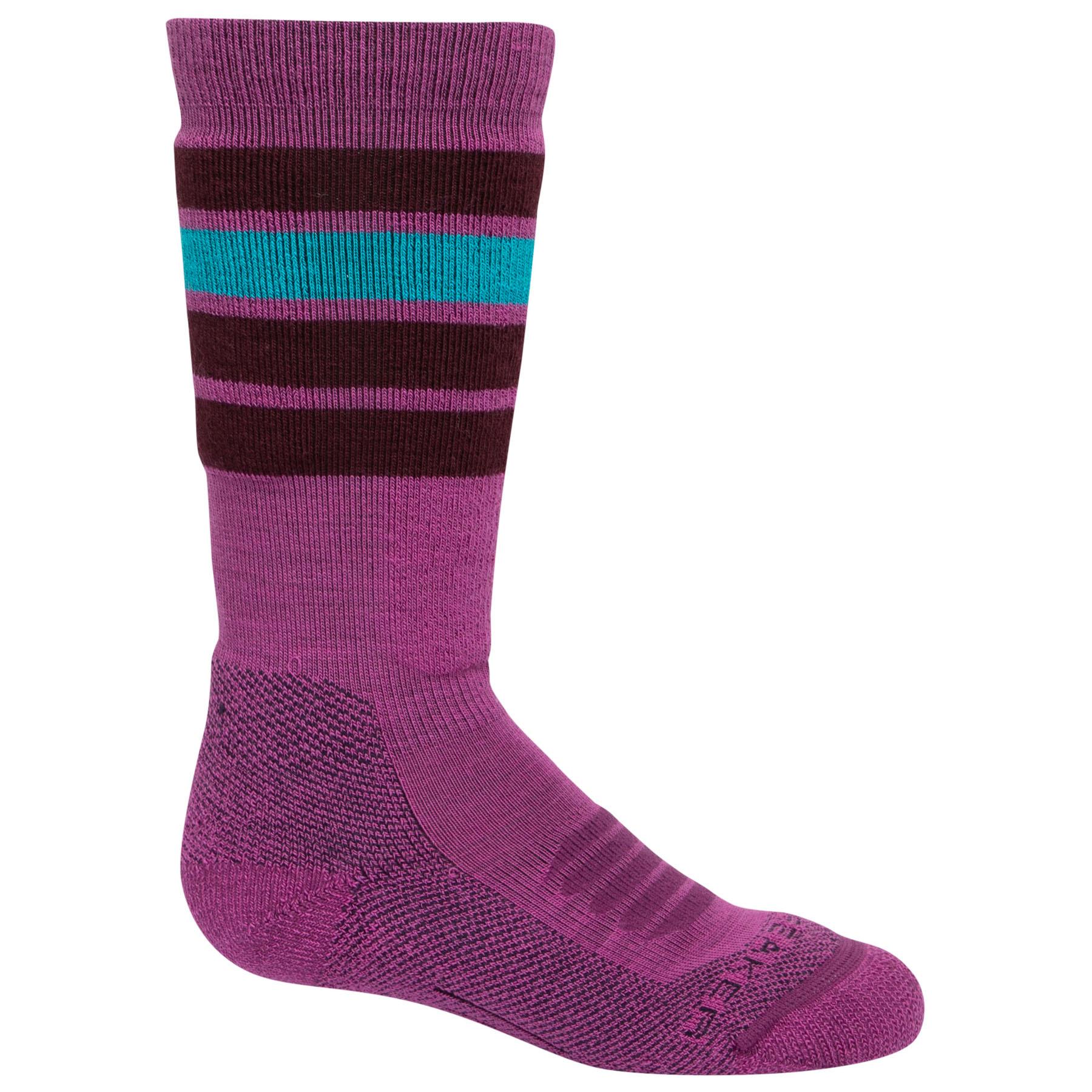 Icebreaker Ski Medium OTC Stripe Kinder Socken - Amore