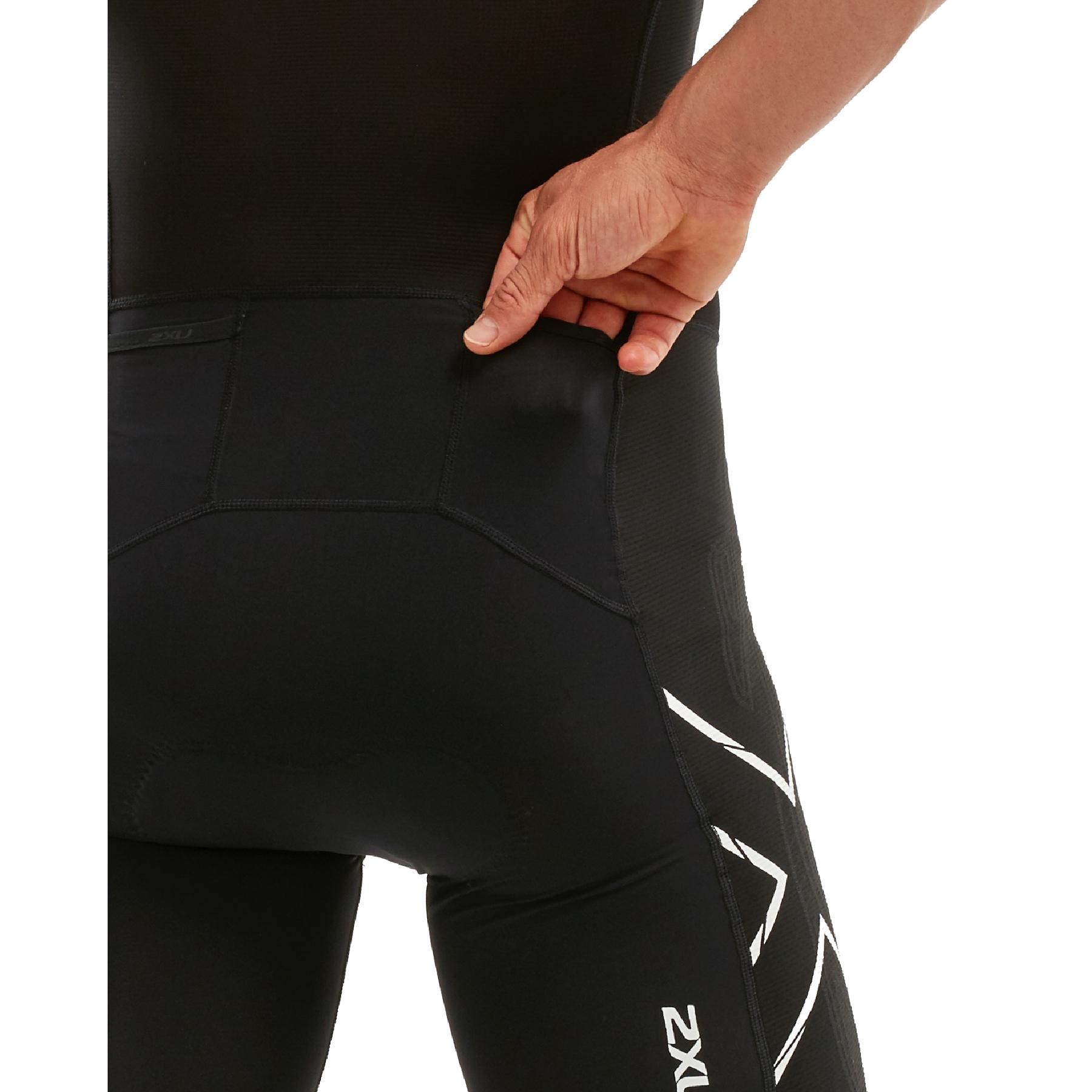 Imagen de 2XU Compression Full Zip Sleeved Trisuit - black/chroma