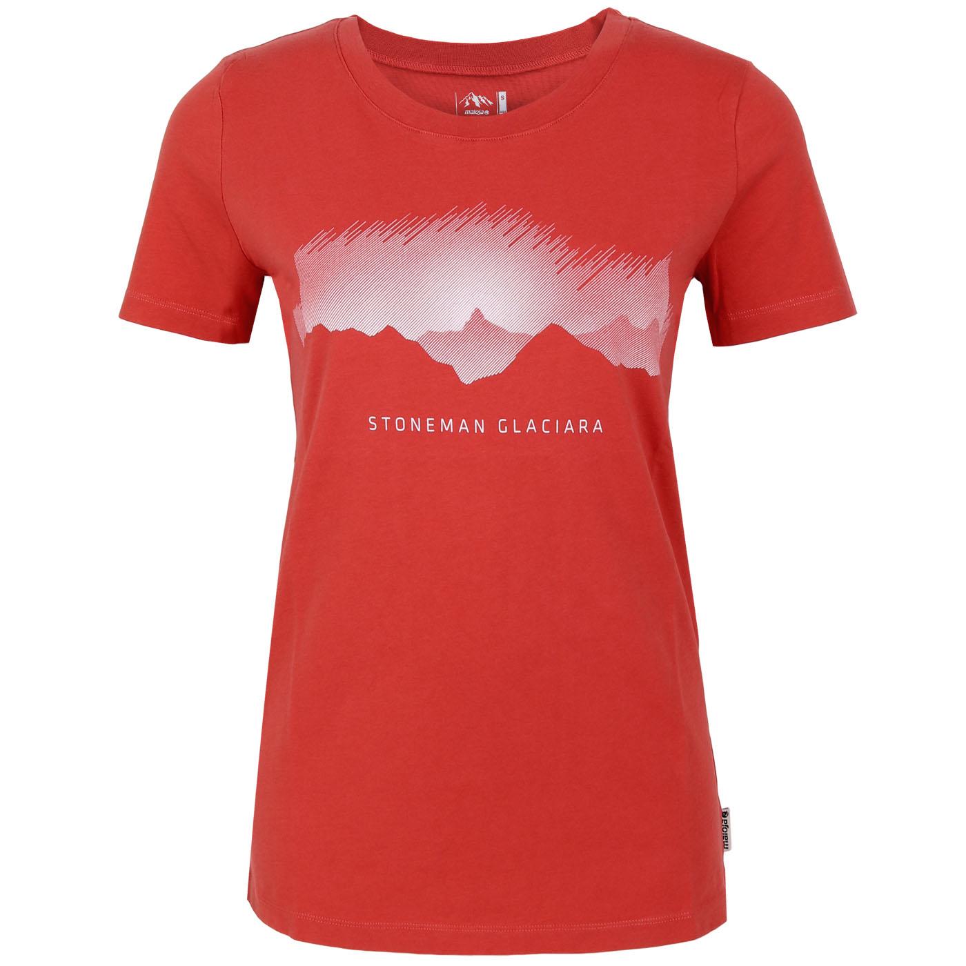 Stoneman Glaciara »Gipfelsturm« Damen T-Shirt by Maloja - vintage red