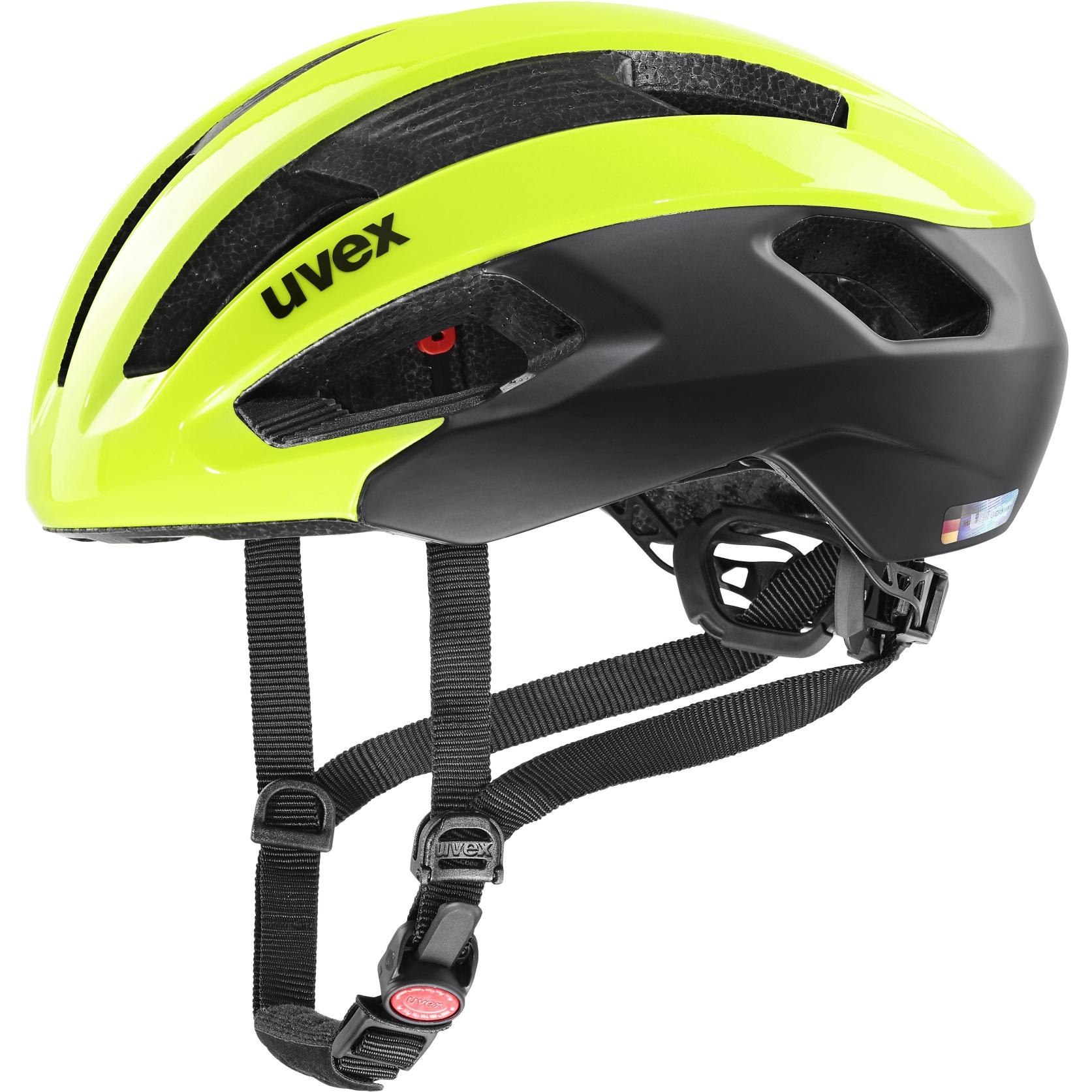 Bild von Uvex rise cc Helm - neon yellow-black mat