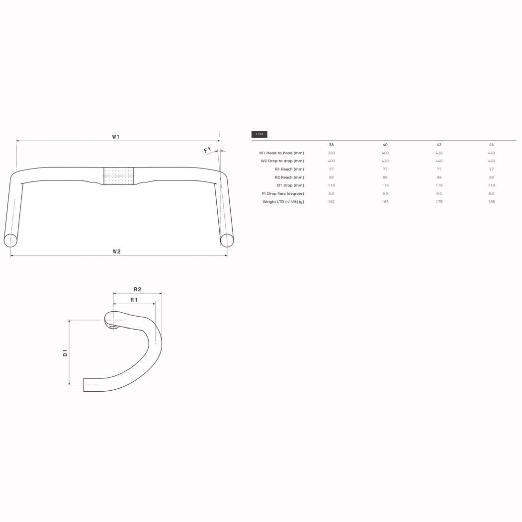 Imagen de 3T Superergo LTD Carbon Handlebar - 31.8 - Stealth Black